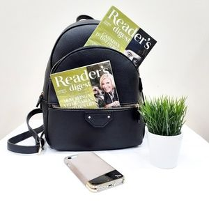 Mini Black Leather Backpack - Call it Spring